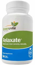 Greenuvite Relaxate Anti-Stress & Anti-Anxiety Dietary Supplement 60 Capsules