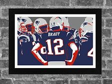 New England Patriots Brady Bunch Portrait Sports Print Art 17x11