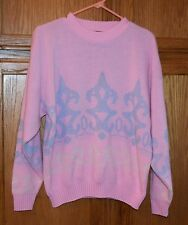 Vintage pastel acrylic sweater made in USA fairy kei, kuwaii, lolita  size M