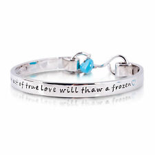 Disney Couture Frozen White Gold-Plated True Love Bangle - ADULT/Medium