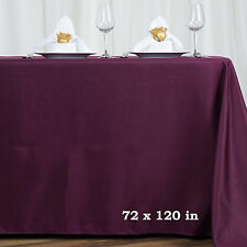 EGGPLANT PURPLE 72x120 RECTANGLE POLYESTER TABLECLOTH Wedding Dinner Decorations