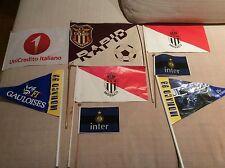 LOTTO 8 BANDIERINE DA TAVOLO INTER F.C. RAPID BUCAREST G.P. F1 MONACO UNICREDIT