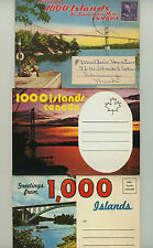 THOUSAND ISLANDS * lot of three folders * St Lawrence River New York Canada 1000
