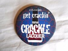 Vintage Covergirl Crackle Lacquer Nail Polish Advertising Pinback Button