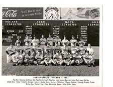 1953 INDIANAPOLIS INDIANS 8X10 TEAM PHOTO  BASEBALL INDIANA USA
