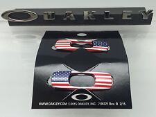 AUTHENTIC OAKLEY BATWOLF REPLACEMENT ICON USA FLAG BRAND NEW!  America Genuine