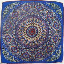 BURMEL VNTG MC MOD FOR BONWIT RED BLUE YELLOW TURKISH IZNIK 100% SILK PUFFY EDGE