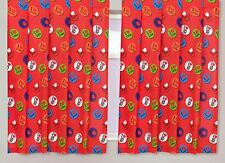 "Official One Direction Memorabilia 66"" Wide x 54"" Drop Curtains - Red"