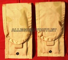 Lot of 2 USGI Military Army Desert Camo MOLLE II M4 Double Mag Ammo Pouches NIB
