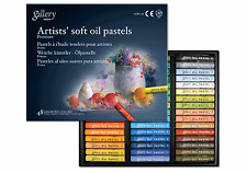 Mungyo Gallery Soft Oil Pastels Set of 48 Assorted Colors Paper Box, MOPV-48