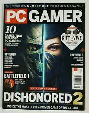 PC Gamer Dishonored 2 Battlefield Previews Total War Aug 2016 FREE SHIPPING JB