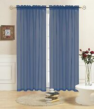 """NAVY SHEER VOILE WINDOW CURTAIN PANEL, GREAT QUALITY SHEER CURTAIN - 55""""X84"""""""