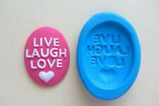 LIVE LAUGH CAMEO silicone mould sugar craft cake decorating fimo cernit cake pop