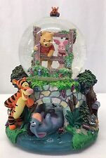 Disney Winnie the Pooh Bridge Snowglobe (Snow Globe) Music Box **FREE SHIPPING**