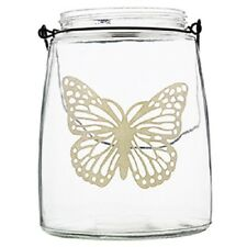 Large glass butterfly design candle/tealight holder. garden,home,indoor,outdoor