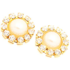 10pc Golden Alloy Pearls Rhinestone Embellishments Clothing Accessories ON SALE