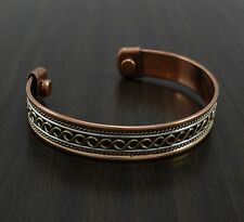 Pure Copper Magnetic Cuff Arthritis Pain Relief Therapy Unisex Fashion Bracelet