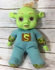 "Dreamworks Shrek 3 2007 Laugh With Me Laughing Baby Boy Ogre Shrek Doll 13"" MGA"