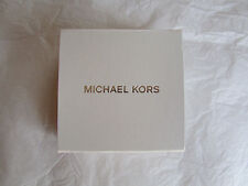"Michael Kors White Silver Cardboard Jewelry Box 4.5"" x 4.5"" NEW"