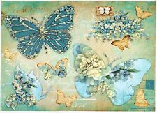 Papel De Arroz Para Decoupage Decopatch Scrapbook Craft Hoja Vintage Mariposas