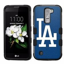 for LG K7 Tribute 5 Armor Impact Hybrid Cover Case Los Angeles Dodgers #B