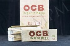 3 PACKS AUTHENTIC OCB ORGANIC HEMP 2 in 1 SIZE 1 1/4 PAPERS NATURAL UNBLEACHED