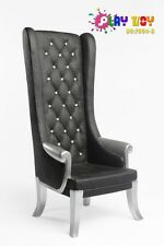1/6 Play Toy F004-B High Back Sofa Chair Black for 1:6 Scale Figure Accessories