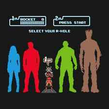 GUARDIANS OF THE GALAXY Select Your A-Hole Video Game RIPT Apparel T-SHIRT NEW!!