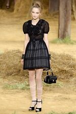 $3400 Chanel Runway Black Embroidered Dress--Only $1200!!