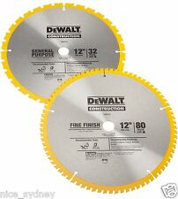 DEWALT DW3128P5 80 Tooth+32T ATB Thin Kerf 12-inch Crosscutting Miter Saw Blade