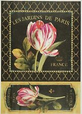 Rice Paper for Decoupage Decopatch Scrapbook Craft Sheet Tulip on Black