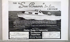 Sea Beaver Cruiser Boat PRINT AD - 1948 ~~ Marine Design & Engineering