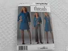 Simplicity Threads 2474 misses' jacket pants skirt Sewing Pattern size 20W-28W