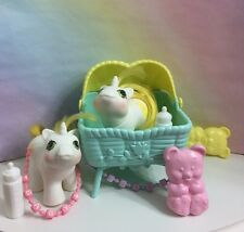 ~MY LITTLE PONY G1~ Twin Baby RATTLES TATTLES (VTG)Baby Pony Twins Complete 1987