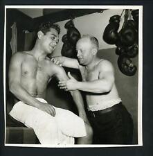 Sixto Escobar & Whitey Brimstein circa 1930 's Press Photo Bantamweight Champion