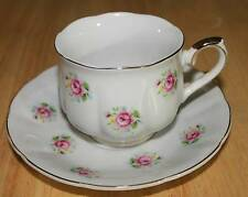 "Beautifull Pink Rose Tea Cup and Saucer Set. FTD ""Extra Touch"" Made in Japan!"
