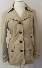 Esprit Womens Spring Jacket Coat Button Front Beige Size 6 Career Long Sleeves