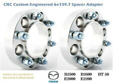 4WD Wheel Spacer Adapters 25 mm 6x139.7, 6x5.5'' Mazda 93.1 mm Hub Centric 2 PCS