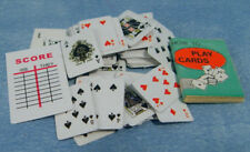 1/12, dolls house Miniature Playing Cards Game Book study Office Nursery BN LGW