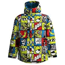 686 Boys Snaggle Strip Snowboard Jacket (L) Acid
