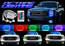 2014-2016 GMC Sierra Truck Multi-Color Changing LED RGB Headlight Halo Ring Set