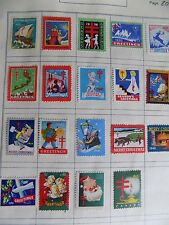 Lot # G29 Postage Stamps Unused Christmas Seals 1930s to 50s Canada + 1 1928