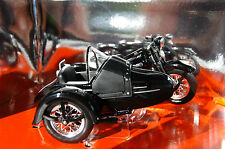 HARLEY DAVIDSON  PANHEAD  & SIDECAR  1/18th   MODEL MOTORCYCLE