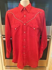 Ely Plains Vintage Cowboy Western Rockabilly Pearl Snap Men's Shirt..Medium..VGC