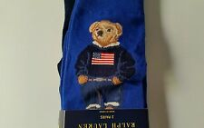 Polo by Ralph Lauren USA FLAG BEAR SOCKS 2 PAIRS NEW IN PACKAGE NWT 4th of JULY