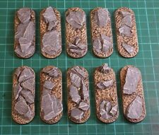 70mm resin scenic Bike bases X5 wargames Sci-fi scenery Slate by Daemonscape