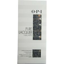 Opi Pure Lacquer Nail Apps--Blk/Grey Rattlesnake--16 Pre-Cut Strips
