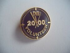 CANADIAN NATIONAL INSTITUTE FOR THE BLIND VOLUNTEER  2000 BUTTON LAPEL PIN BACK