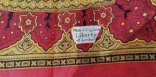 Vintage LIBERTY OF LONDON Red and Gold Silk Scarf Made in England