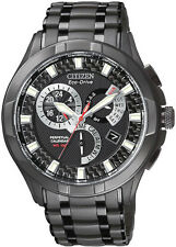 New Citizen Mens Black Calibre 8700 Eco-Drive Watch BL8097-52E